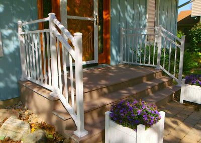 Azek Porch with Aluminum Railing