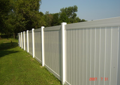 Superior 72 in. White Privacy