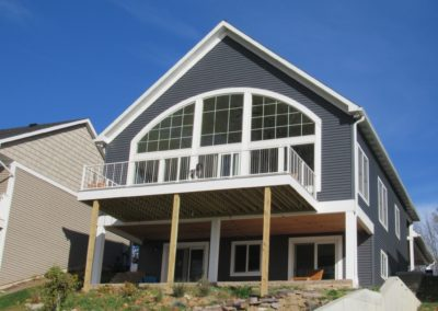 """Alum. Vertical Cable Railing – Chapman Lake""                Provided By: Boren Construction"